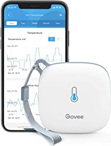 Govee WiFi Thermometer Hygrometer, Smart Humidity Temperature Sensor with App Notification Alert, 2 Years Free Data Storage Export, Wireless Remote Monitor for Room Greenhouse Incubator Wine Cellar