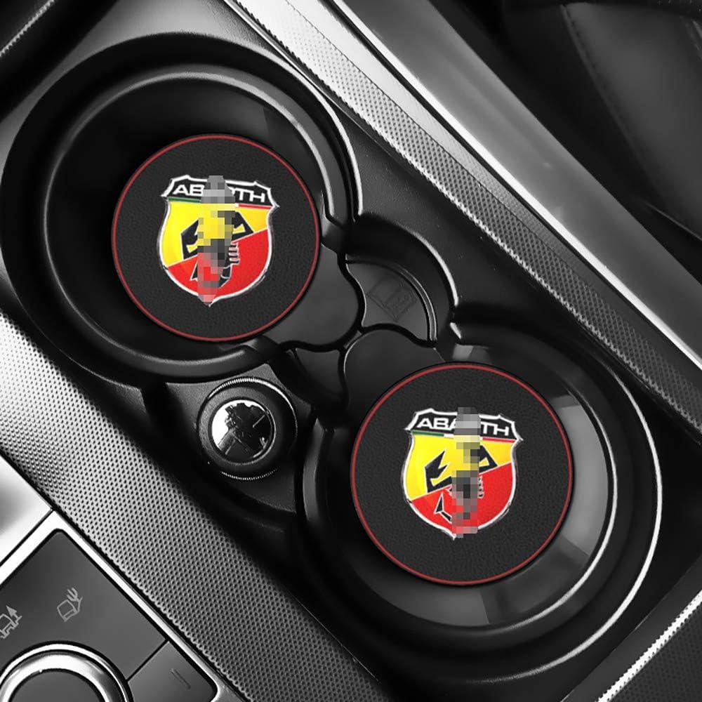 LIANGYUXIA 2 St/ück Auto Innenmatten Wasser Untersetzer Leder Pad Auto Anti-Dirty Pad Auto Zubeh/ör f/ür FIAT Abarth Punto 500 Ducato Palio Bravo