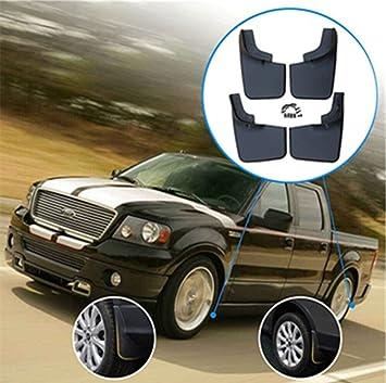 PDR Auto Custom Black Mud Flap Protector Contra salpicaduras de Autos Guardabarros para 99-04 F-150 Front and Rear Mudflaps: Amazon.es: Coche y moto