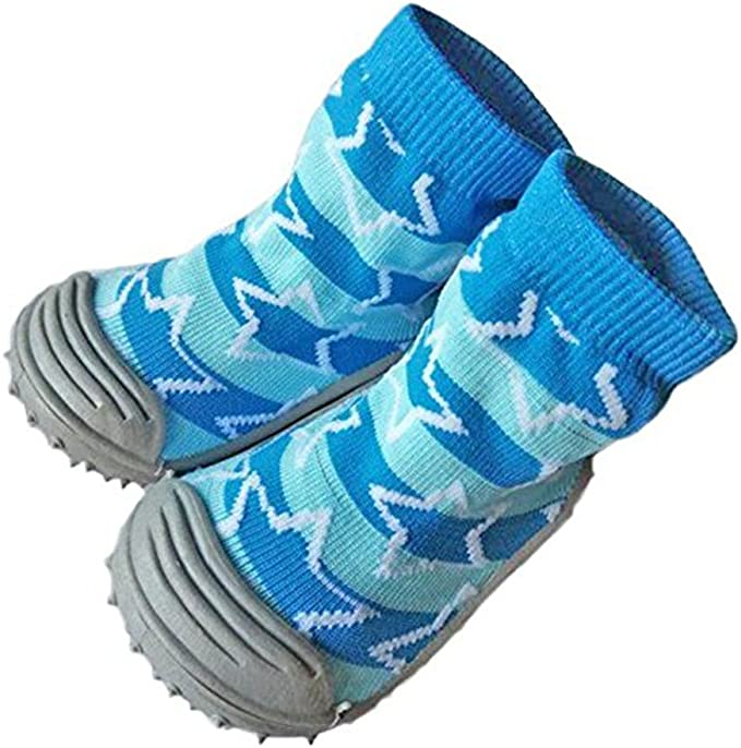 Insole Length 12 Cm Around Infant Toddler Non-slip Cotton Shoes Socks With Rubber Soles Breathable Baby Socks