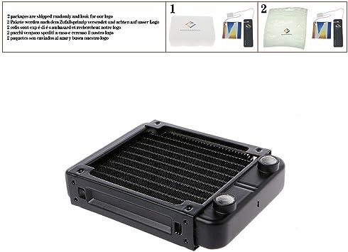 120mm Aluminum Computer Radiator Water Cooler 10 Tube for Computer CPU Heat Sink Exchanger
