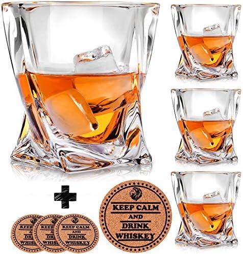 Twist Whiskey Glasses Coasters Glassware product image