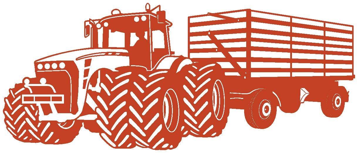Samunshi® Wandtattoo Großer Traktor mit Anhänger Trecker Kinderzimmer Kinder Wandaufkleber in 8 Größen und 20 Farben (140x59cm grün) B06W9L9Q5F Wandtattoos & Wandbilder