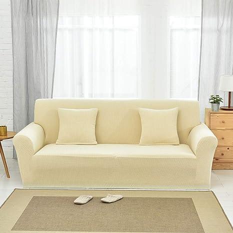 JiaQi Fundas de sofá de algodón de Punto,Funda elástica ...