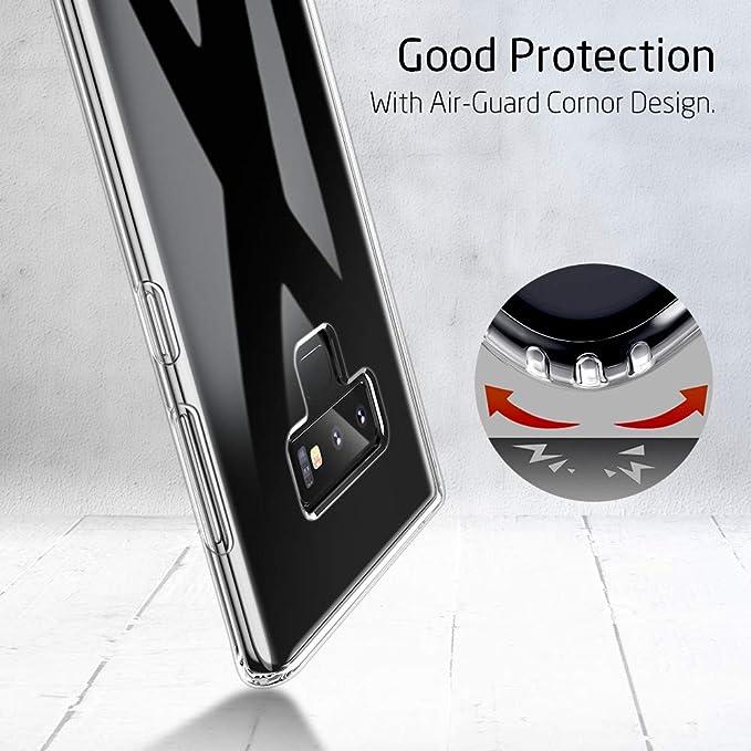 ESR Funda Compatible con Samsung Note 9 Suave TPU Gel Ultra Fina Protección a Bordes y Cámara para Samsung Galaxy Note 9-Transparente: Amazon.es: ...
