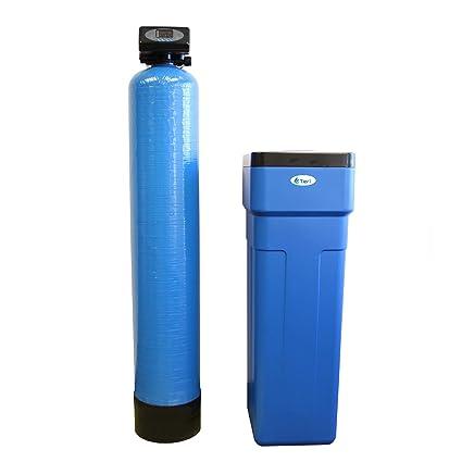 Tier1 48.000 grano descalcificador de agua digital de alta eficiencia para agua dura