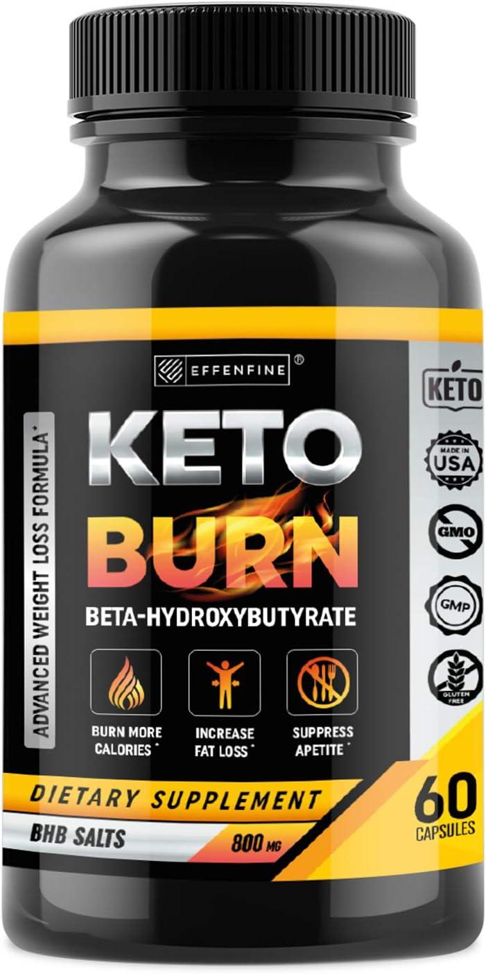 Keto Pills - BHB Capsules with Exogenous Ketones - 60 Capsules