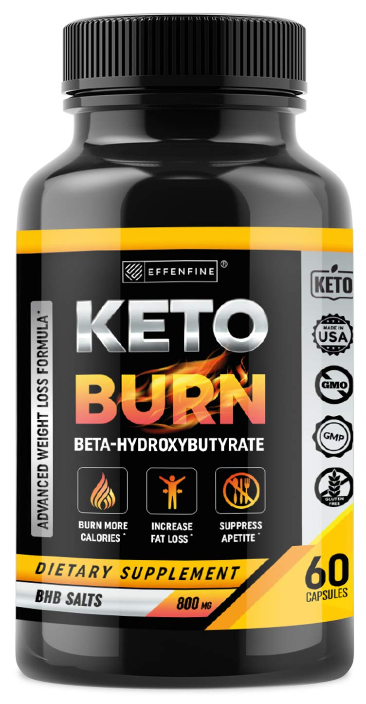 Keto Burn Weight Loss Pills - BHB Capsules with Exogenous Ketones - Boost Metabolism - Enhance Performance and Support Weight Loss