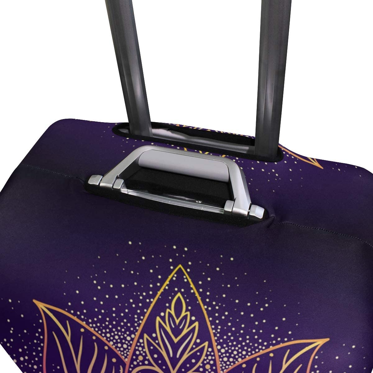 FOLPPLY Chinese Dragon Purple Eye Luggage Cover Baggage Suitcase Travel Protector Fit for 18-32 Inch