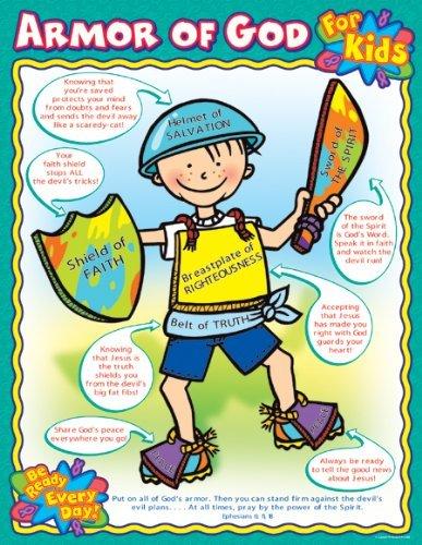Armor of God for Kids Chart (Armor Of God Poster)