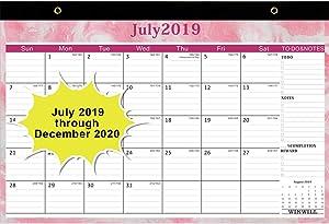 "Desk Calendar 2019-2020 - Desk Blotter Calendar 2019-2020 17"" x 12"" Teacher Monthly Desk Pad Calendar Academic Year,18 Month Large Size,Ruled"