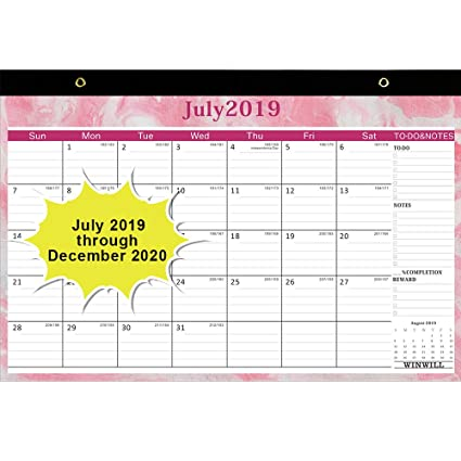 Desk Calendar 2019 2020 Desk Calendar July 2019 2020 17 X 12 Teacher Monthly Desk Pad Calendar Academic Year 18 Month Large Size Ruled Blocks