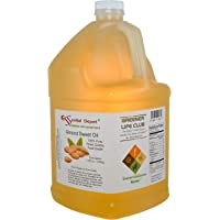 Almond Sweet Oil - 1 Gallon - 128 oz - Safety Sealed HDPE Container with resealable Cap - 100% Pure and Natural for Hair, Skin, Massage and Cooking