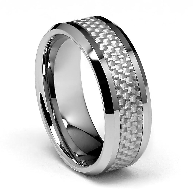 B carbon fiber wedding ring
