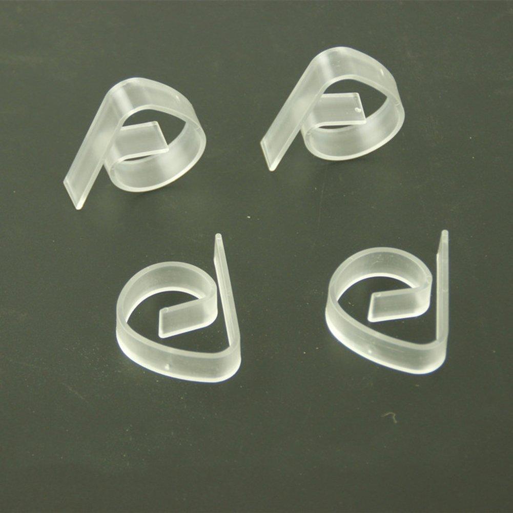 Msyou 12/pezzi fermatovaglia molla plastica tovaglia morsetto copertura Holder for home Garden party picnic wedding Outdoor trasparente