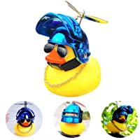 wonuu Rubber Duck Toy Car Ornaments Yellow Duck Car Dashboard Decorations with Propeller Helmet for Adults, Women, Men
