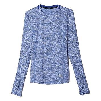 Adidas Supernova Camiseta de Running, otoño/Invierno, Mujer, Color Azul - Azul, tamaño S: Amazon.es: Deportes y aire libre