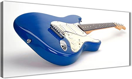 Azul Blanco Fender guitarra eléctrica – sala de estar lienzo pared ...