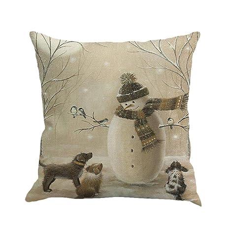Amazon Xmas Throw Pillow Covers Keepfit Merry Christmas Home