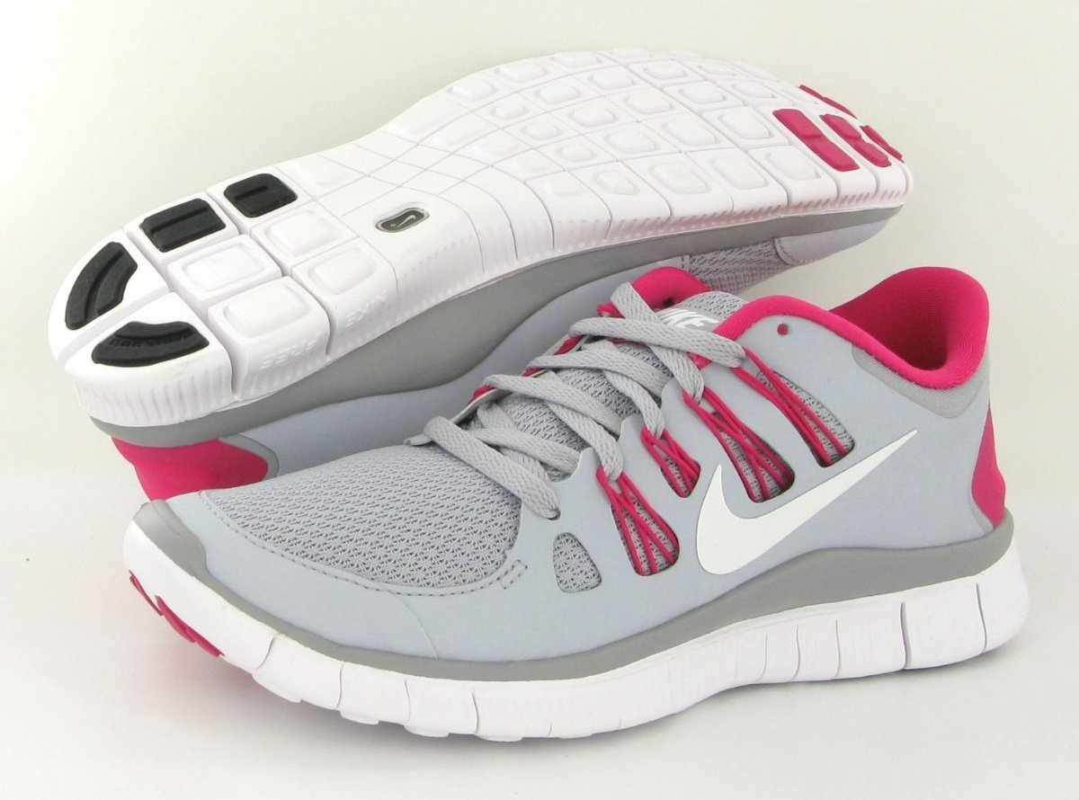 Nike Free 5.0 Womens Running Shoes 580591 061 Wolf Grey 7 M US
