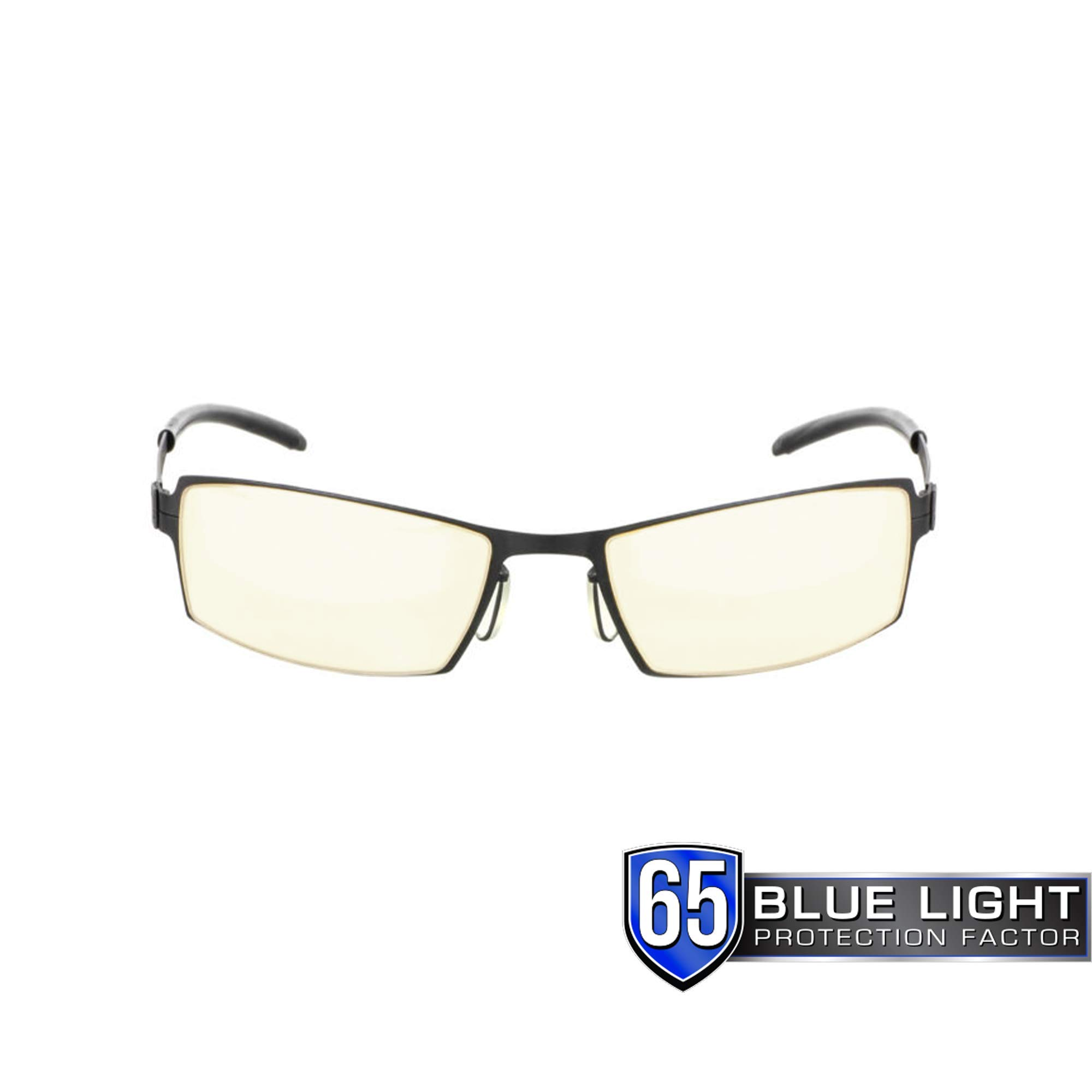 GUNNAR Gaming and Computer Eyewear /Sheadog, Amber Tint - Patented Lens, Reduce Digital Eye Strain, Block 65% of Harmful Blue Light