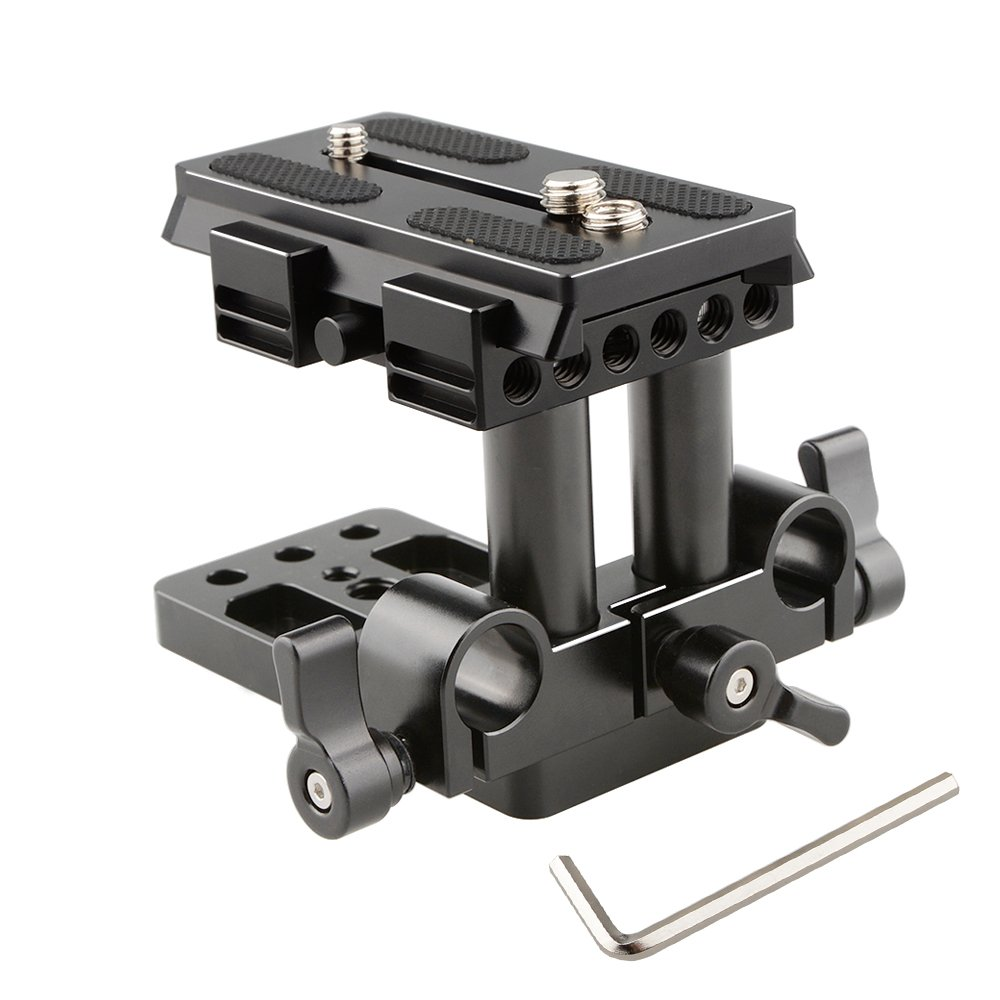 CAMVATE soporte base QR plato de liberaci/ón r/ápida para Manfrotto 501// 504// 577//701 est/ándar accesorio negro