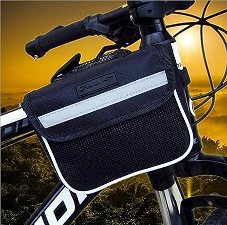 Bolsa de manillar de silla de montar bicicleta equipo impermeable ...