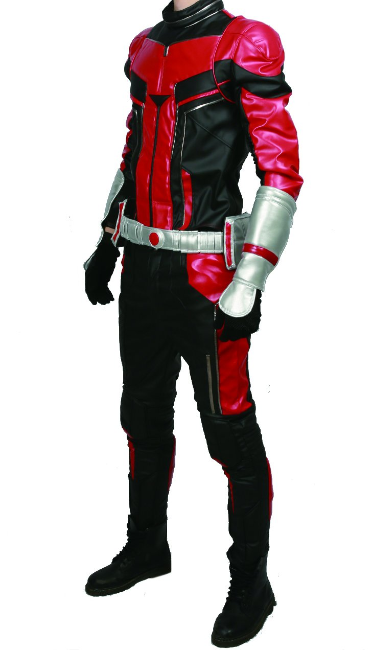 xcoser Ant Man Costume with Helmet Deluxe PU Cosplay Outfit Belt Gloves Full Suit Halloween Custom Made by xcoser (Image #4)