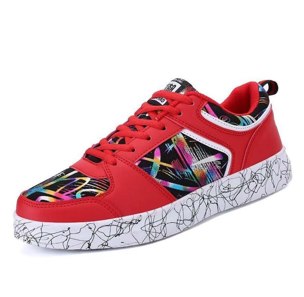 Bomba Placa Zapatos Casual Zapatos Pareja Zapatos Unisex Zapatos Deportivos Encaje hasta Colormatch Snekers UE Tamaño 35-44,Red,37EU 37EU Red