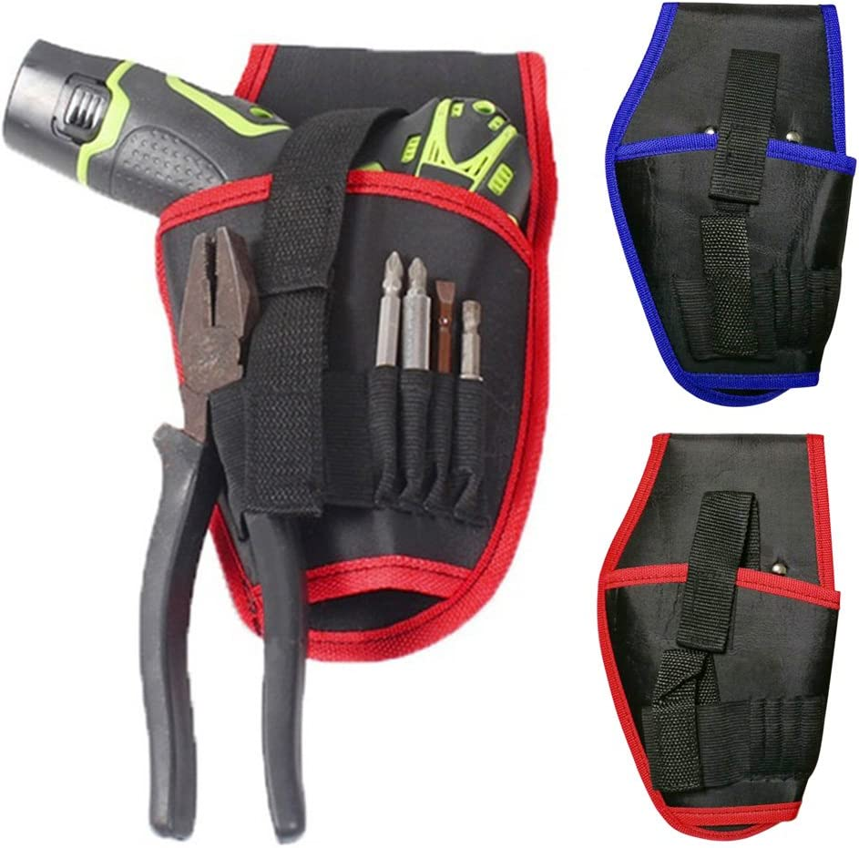 Almabner Drill Holster,Heavy-Duty Impact Driver Holster,Portable Cordless Drill Holder Screwdriver Waist Power Tool Bag,Tool Organizer,Fits Most T Handle Drills