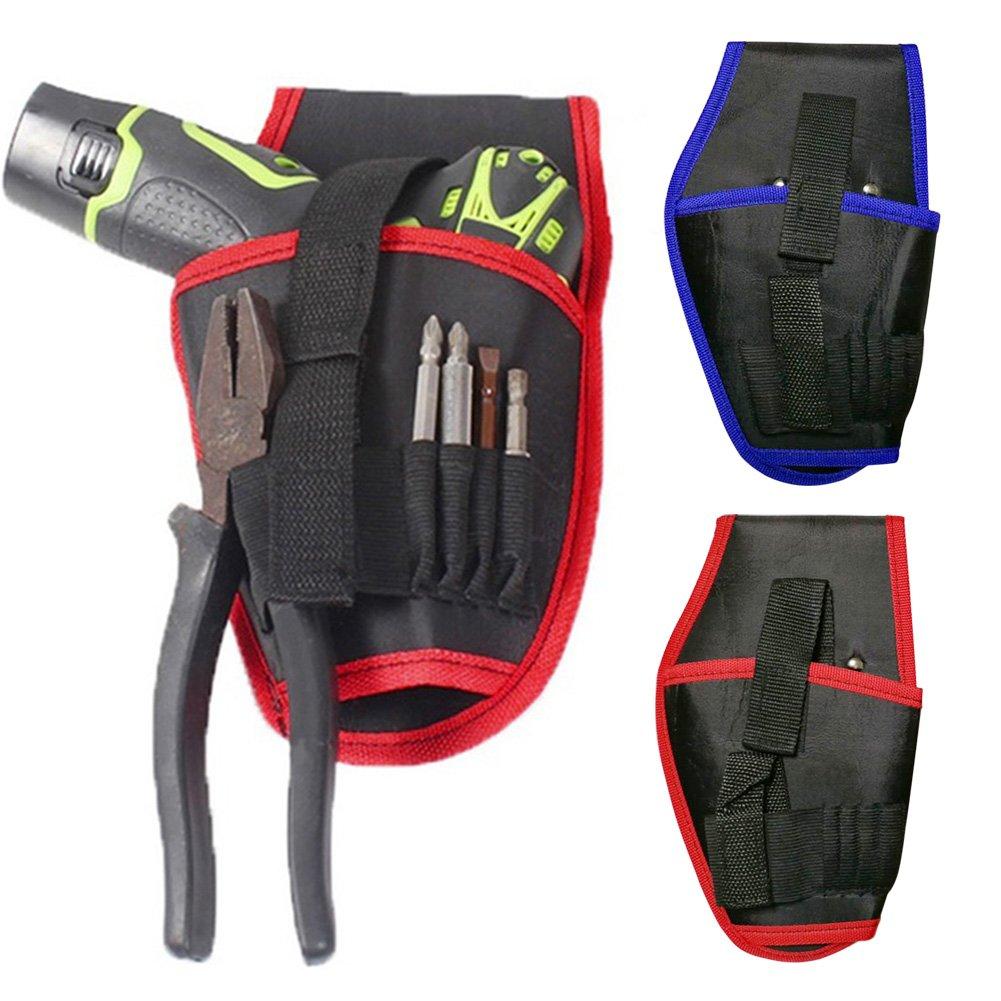 Soporte para taladro de cintura inal/ámbrico para herramientas el/éctricas y cintura azul f/ácil de transportar