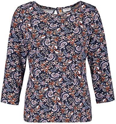 Gerry Weber damska koszulka z rękawami 3/4, ze wzorem ze stopu, podkreślająca figurę: Odzież