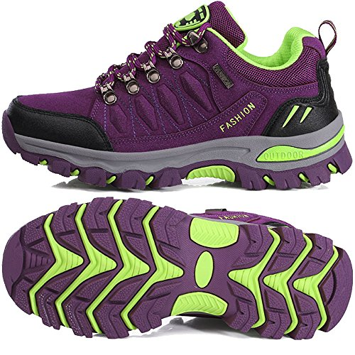 BOLOG Chaussures de Randonnée Outdoor Hommes Basses Trekking Promenades Sports Sneakers Femme Antichoc Antidérapant Chaussures Violet hweX0i7J