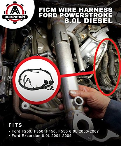 amazon com ficm engine fuel injector complete wire harness rh amazon com 1997 ford f350 diesel wiring harness ford 6.9 diesel wiring harness