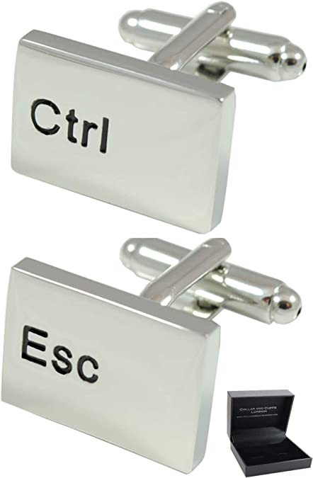 Unique Silver Keyboard Cufflinks with Gift Box