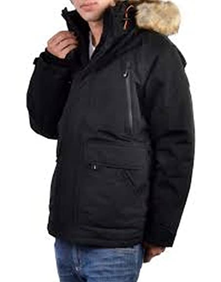 Noize Mens Hooded Parka Coat at Amazon Men's Clothing store: