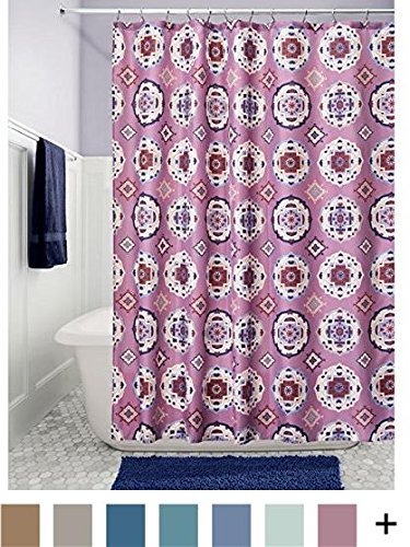 InterDesign Medallion Fabric Shower Curtain -  - shower-curtains, bathroom-linens, bathroom - 61jlWkjpPPL -