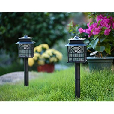 Twinkle Star LED Solar Pathway Lights Outdoor Solar Landscape Lights Weather-Resistant Solar Lights (2 Pack)