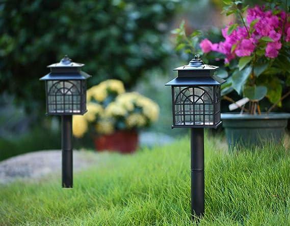 Twinkle Star LED Solar Pathway Lights Outdoor Solar Landscape Lights  Weather Resistant Solar Lights (
