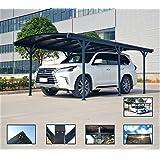 Carport Auvent pour Voiture en polycarbonate et Aluminium–576x 300cm d'extérieur ou de jardin
