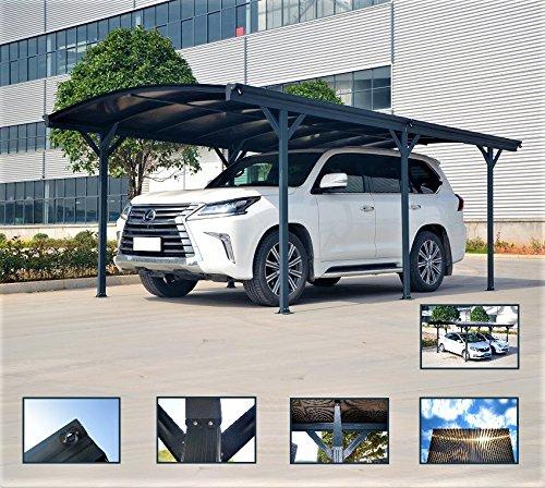 Carport Auvent Pour Voiture En Polycarbonate Et Aluminium - 576 X
