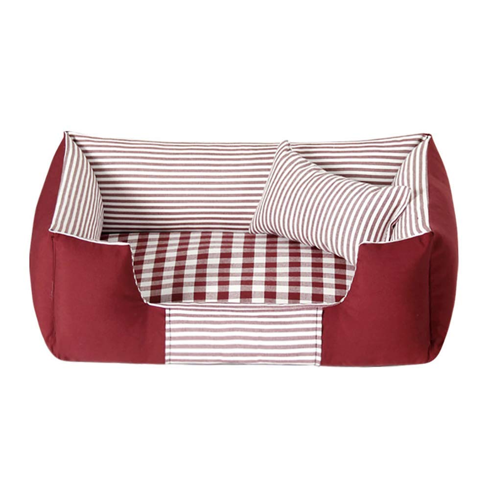 Red L(8663cm) Red L(8663cm) Kennel Pads Dog Beds Pet Bed Sofa House for Dog Cat,Washable Covers,Durable,Available in All Seasons Cat Bed Pet Supplies Cover (color   Red, Size   L(86  63cm))