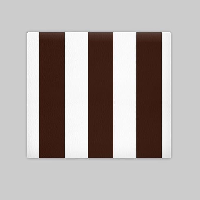 SUENOSZZZ - Cabecero Ohio Líneas Verticales (Cama135) 145x57 cms. Color Blanco y Chocolate: Amazon.es: Hogar