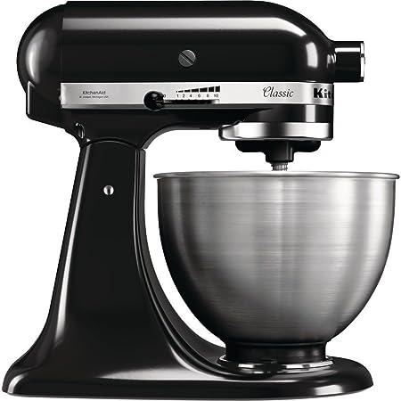 KitchenAid 5K45SSEOB Robot DE Cocina DE 4,3 L Classic Onix, 275 W, 4.3 litros, Acero Inoxidable, 10 Velocidades, Negro, Metálico: Amazon.es: Hogar