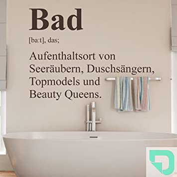 DESIGNSCAPE® Wandtattoo Bad Definition 2 - Badezimmer Wandtattoo ...