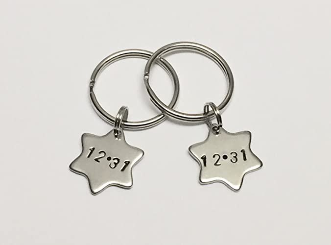 Amazon com: Personalized Hand Stamped Star Keychain
