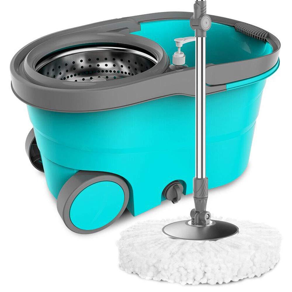 LJJL 手で洗うことなく家庭を回るモップ二重駆動湿った乾燥したデュアルユーズドレイジーモップ フロアスプレーモップ (色 : Orange, サイズ さいず : A) B07PZXTMJ9 Orange A