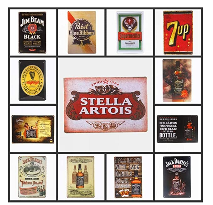 Cartel Metalicas Decoración 20 * 30 Cm Beer Whisky Metal Tin ...