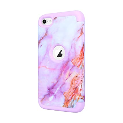 newest b6a85 4bea0 iPod Touch 6th Generation Case,ipod 6 Cases,ipod 5 Cases,ACKETBOX Marble  Shockproof Drop-Protection Hybrid Impact Defender Heavy Duty Case Cover for  ...