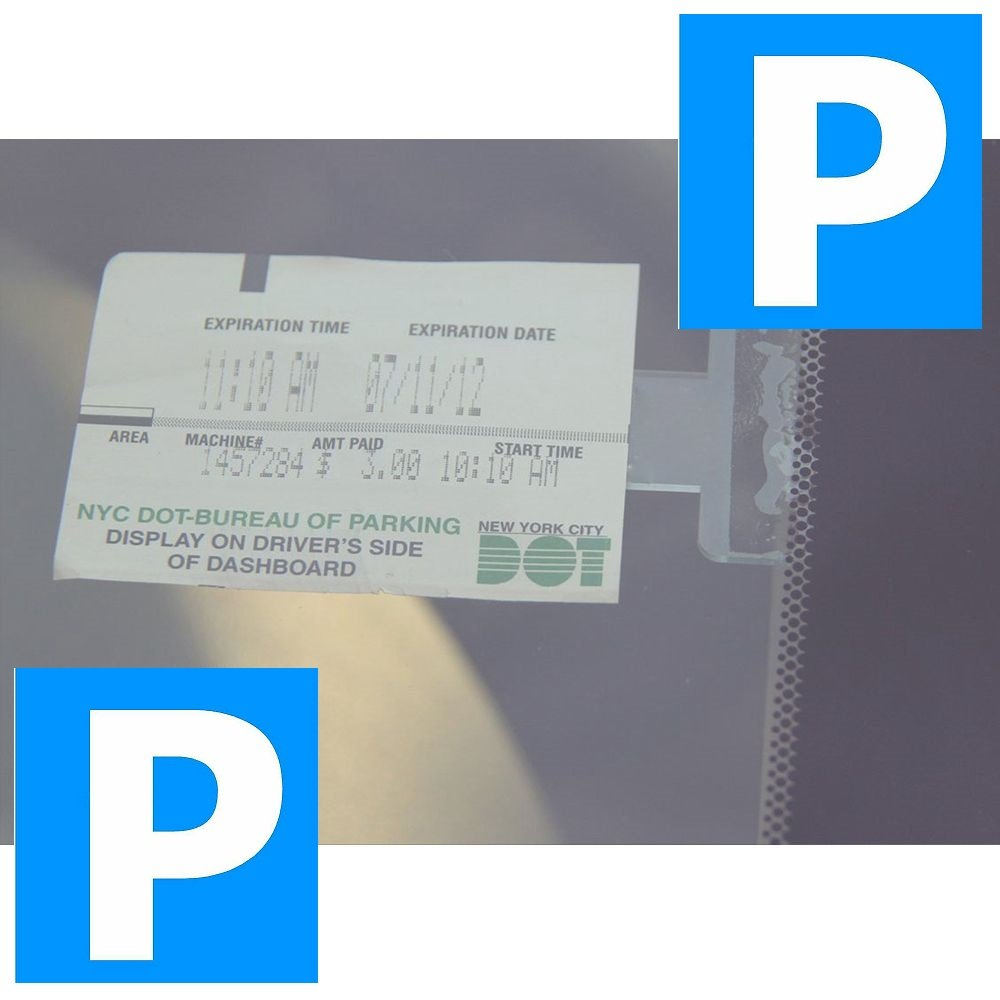 Blue Lagoon Products Ltd PARKING TICKET CLIP STICK-ON [LL] [Aro3]